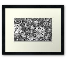 Triangles - Three Vertices & Three Edges Framed Print