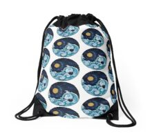 Day And Night Ying Yang Drawstring Bag