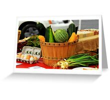 Eggs and vegetables Greeting Card