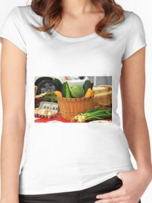 Eggs and vegetables Women's Fitted Scoop T-Shirt