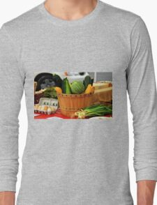 Eggs and vegetables Long Sleeve T-Shirt