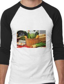 Eggs and vegetables Men's Baseball ¾ T-Shirt