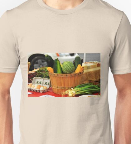 Eggs and vegetables Unisex T-Shirt