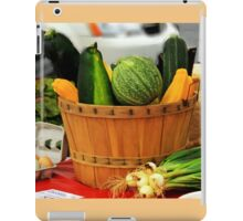 Eggs and vegetables iPad Case/Skin