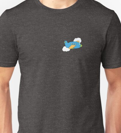 Airplane flying through Clouds Unisex T-Shirt