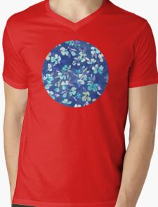 Grown Up Betty - blue watercolor floral Mens V-Neck T-Shirt