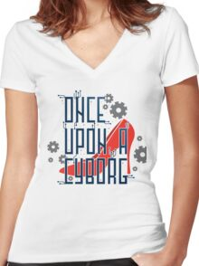 Once Upon a Cyborg Women's Fitted V-Neck T-Shirt