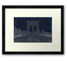 Phish NYE MSG NYC Brooklyn Bridge Framed Print
