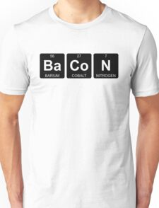 Ba Co N - Bacon - Periodic Table - Chemistry - Chest Unisex T-Shirt