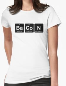 Ba Co N - Bacon - Periodic Table - Chemistry - Chest Womens Fitted T-Shirt