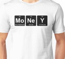 Mo Ne Y - Money - Periodic Table - Chemistry - Chest Unisex T-Shirt