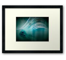6 month exposure overlooking the Beachy head lighthouse. Framed Print