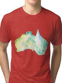 Australia Watercolor  Tri-blend T-Shirt