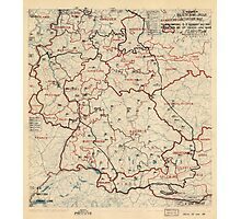 June 6 1945 World War II HQ Twelfth Army Group situation map Photographic Print