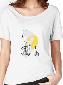 Cycling Polar Bear Women's Relaxed Fit T-Shirt
