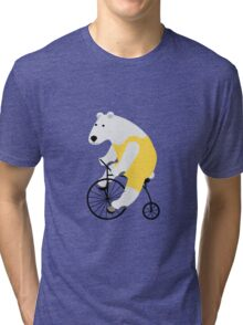 Cycling Polar Bear Tri-blend T-Shirt