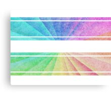 Rainbow Stripes - Colorful Print Canvas Print