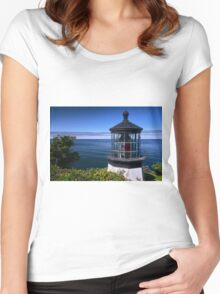 Cape Meares Lighthouse Women's Fitted Scoop T-Shirt