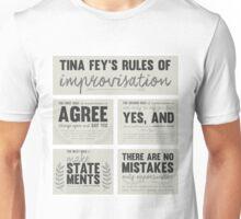 Tina Fey's rules of improvisation Unisex T-Shirt