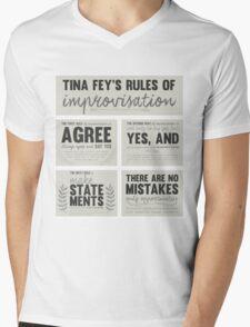 Tina Fey's rules of improvisation Mens V-Neck T-Shirt