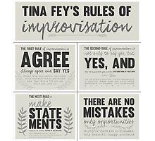 Tina Fey's rules of improvisation Photographic Print