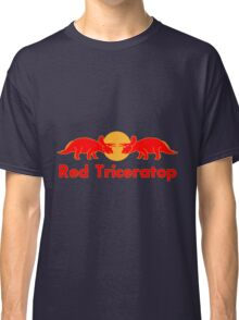 Prehistoric energy drink, Red Triceratop Classic T-Shirt