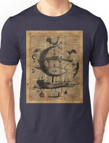 Victorian Steampunk Flying Machine Unisex T-Shirt