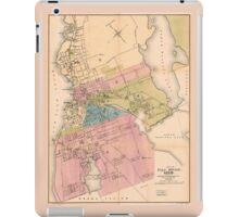 City of Fall River Massachusetts Map (1878) iPad Case/Skin