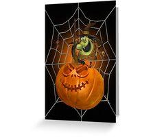 Angry Pumpkin Greeting Card