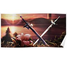 SAO - Kirito and Asuna's swords Poster