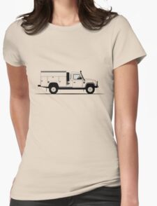Land Rover Defender 130 Mobile Maintenance Vehicle Womens Fitted T-Shirt