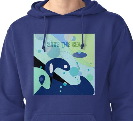 Orca Whale  Pullover Hoodie