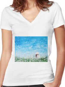 Being A Woman #1 Women's Fitted V-Neck T-Shirt