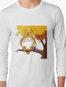 Parody Totoro, Calvin And The Hobbes Long Sleeve T-Shirt