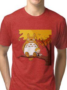 Parody Totoro, Calvin And The Hobbes Tri-blend T-Shirt
