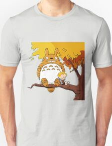Parody Totoro, Calvin And The Hobbes T-Shirt
