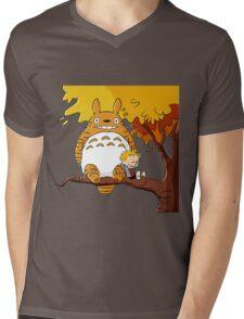 Parody Totoro, Calvin And The Hobbes Mens V-Neck T-Shirt