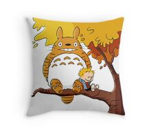 Parody Totoro, Calvin And The Hobbes Throw Pillow