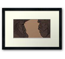 Hateful Eight - Senor Bob and Major Marquis Warren Framed Print