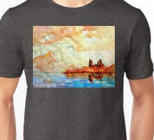 scottish castle by sea  Unisex T-Shirt
