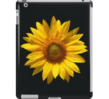 Beautiful sunflower on black background iPad Case/Skin