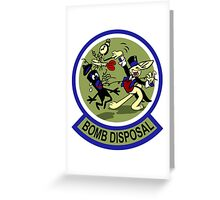 WWII Bomb Disposal Greeting Card
