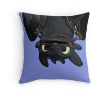 Upside Down Toothless Throw Pillow