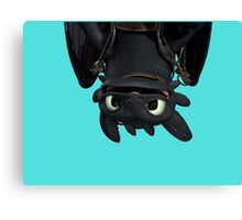 Upside Down Toothless Canvas Print