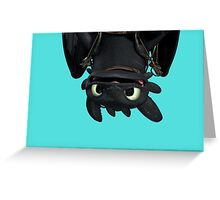 Upside Down Toothless Greeting Card