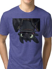 Upside Down Toothless Tri-blend T-Shirt