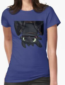 Upside Down Toothless Womens Fitted T-Shirt