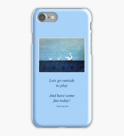3cm Family Swim iPhone Case/Skin