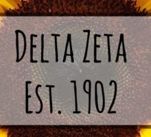 Delta Zeta Sunflower Sticker