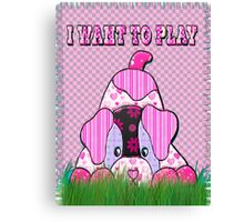 dog lover patchwork beautiful desing  Canvas Print